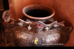 Detail, Bhairav clay mask and clay pot